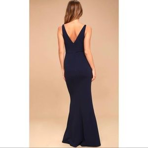 603881ff63bdd Lulu s Dresses - Lulu s Melora Navy Blue Sleeveless Maxi Dress